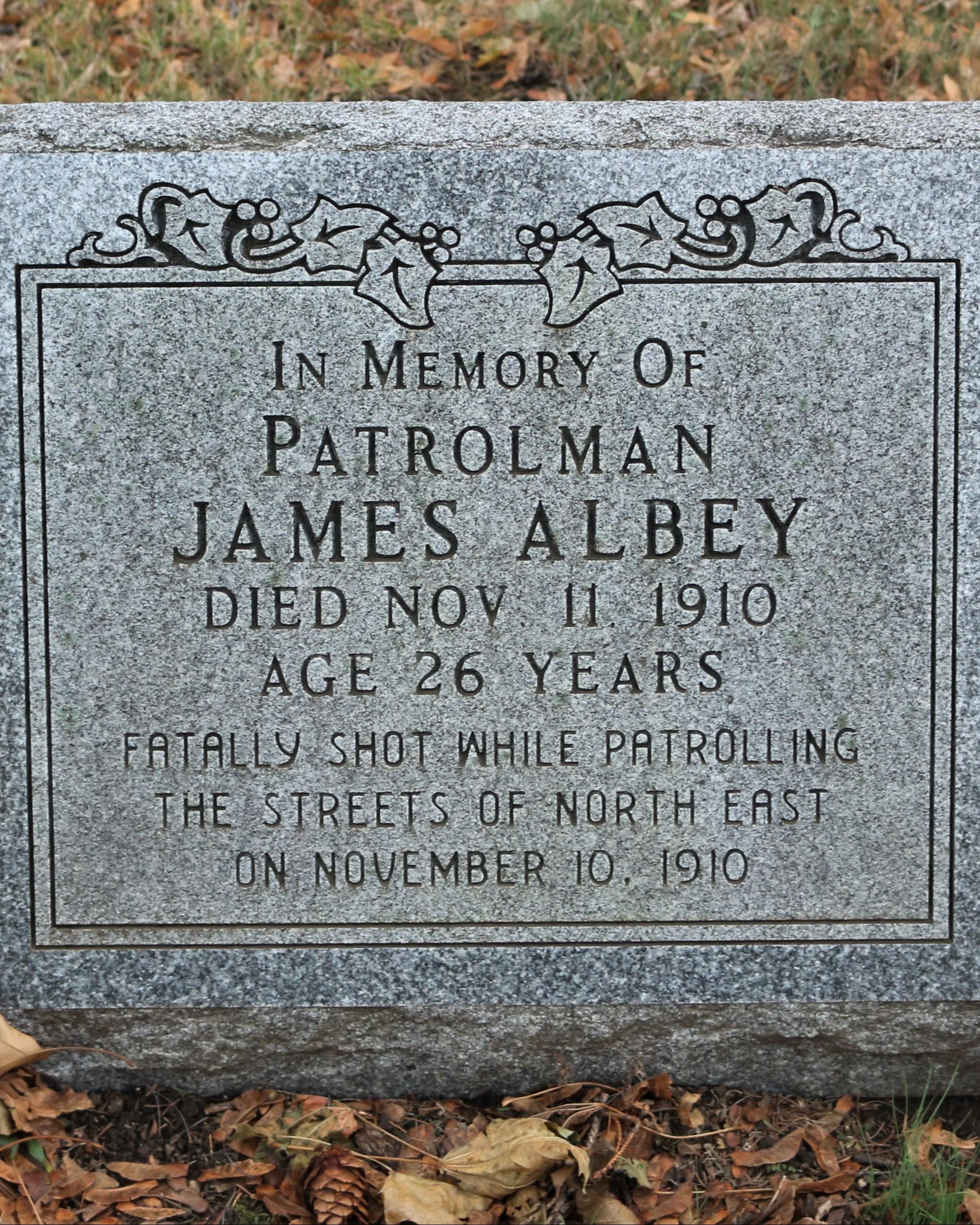 Patrolman James Albey | North East Borough Police Department, Pennsylvania