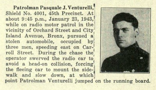 Patrolman Pasquale Venturelli | New York City Police Department, New York