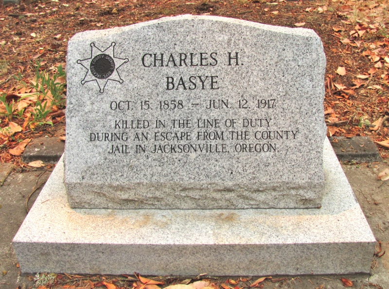 Deputy Sheriff Charles H. Basye | Jackson County Sheriff's Department, Oregon