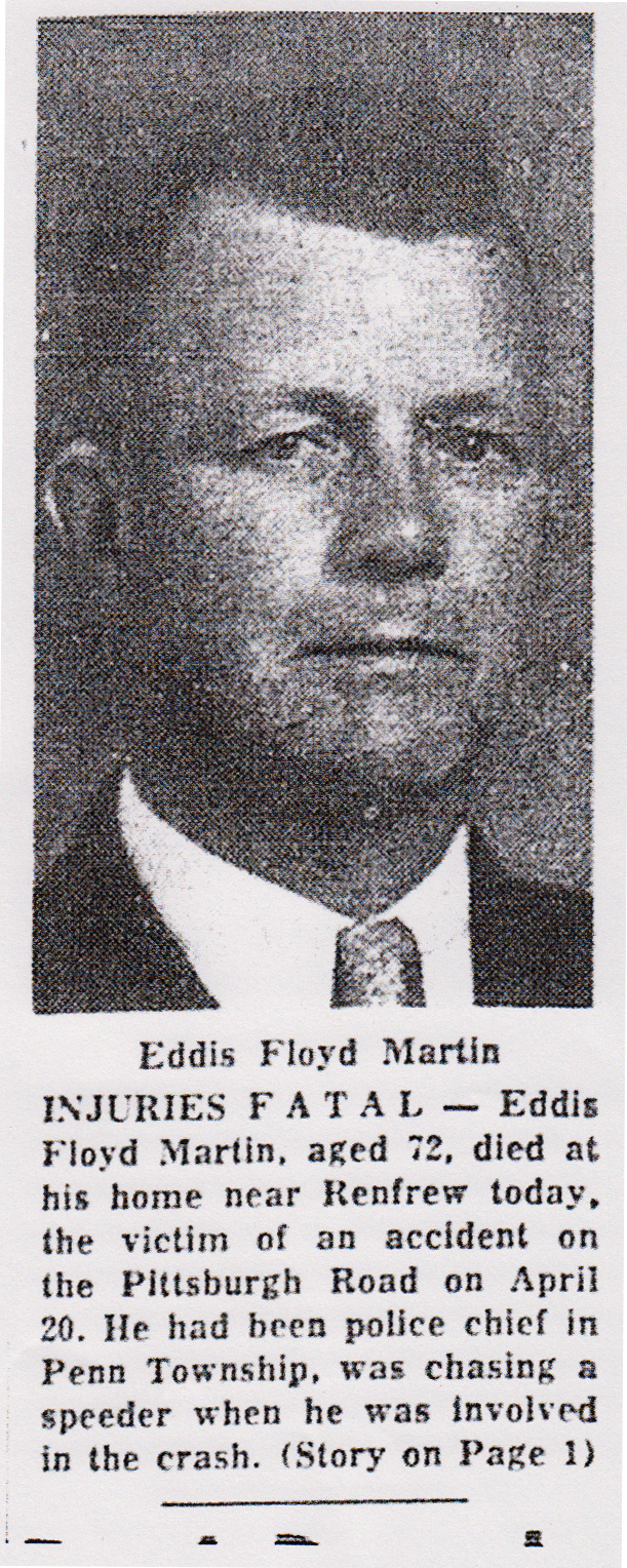 Chief of Police Eddis Floyd Martin | Penn Township Police Department, Pennsylvania
