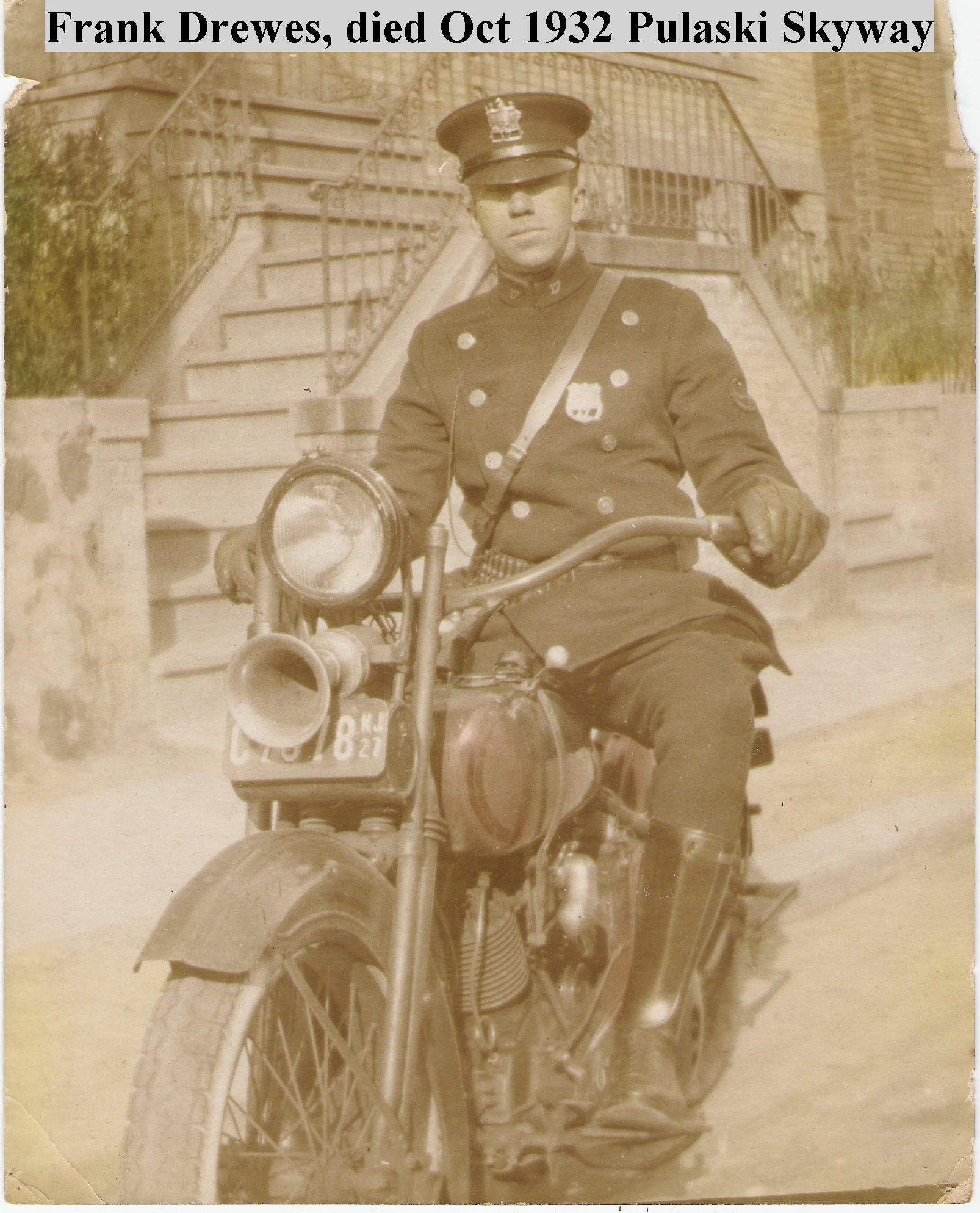 Patrolman Frank W. Drewes, Jr.   Hudson County Police Department, New Jersey