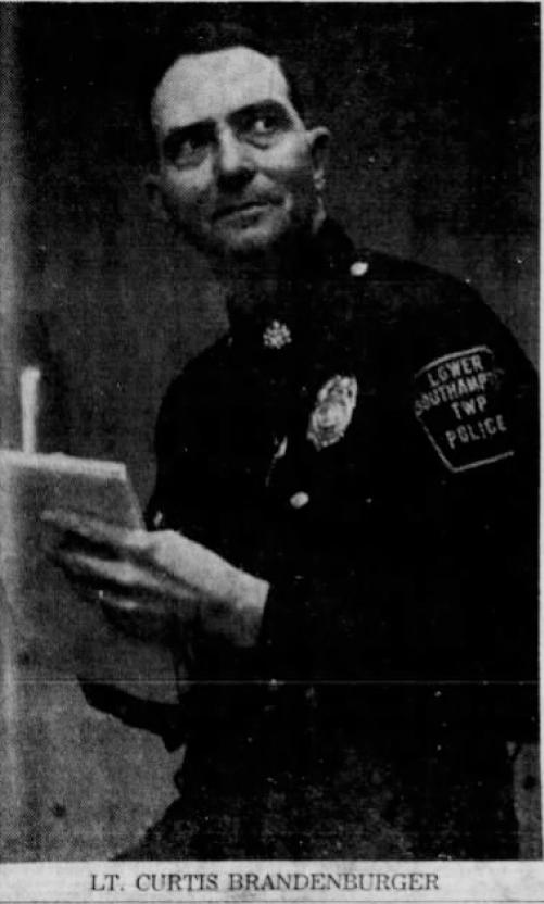 Lieutenant Curtis Alvin Brandenburger | Lower Southampton Township Police Department, Pennsylvania