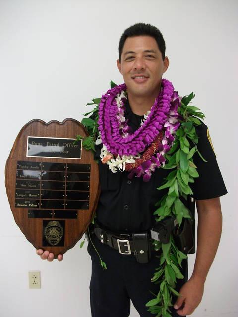 Police Officer Bronson K. Kaliloa | Hawaii County Police Department, Hawaii