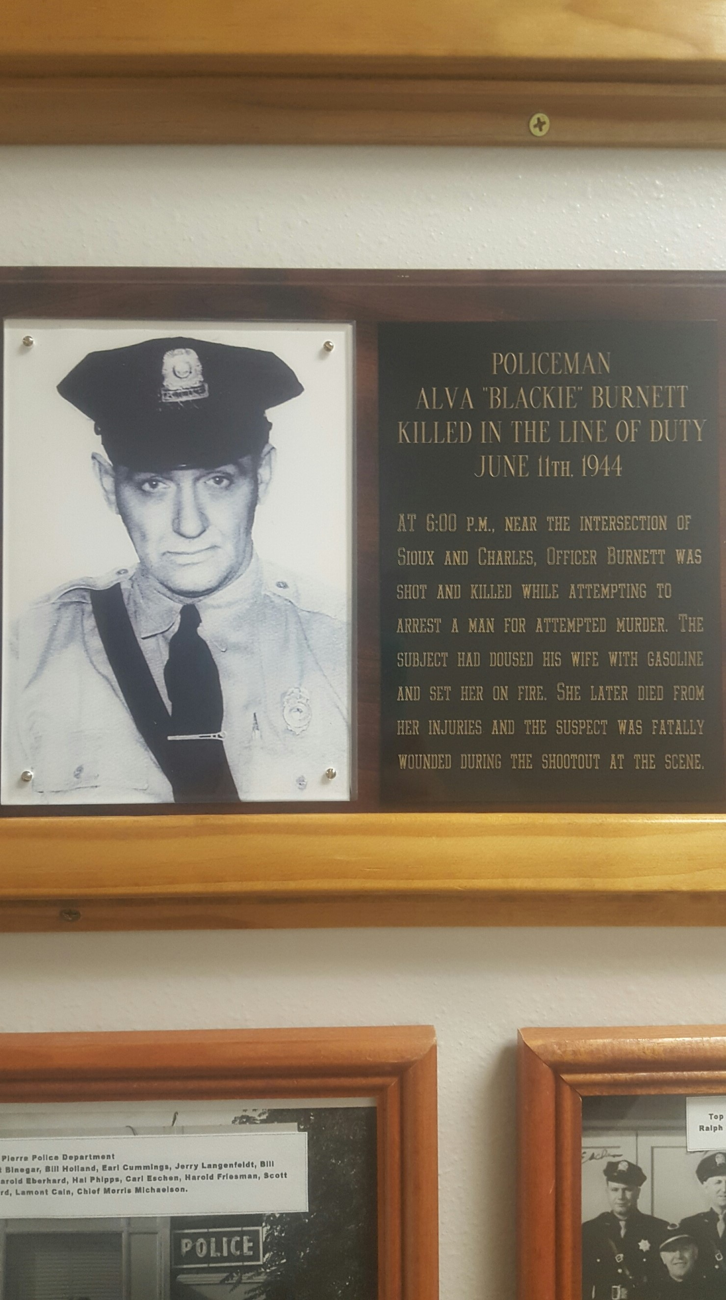 Patrolman Alva H. Burnett | Pierre Police Department, South Dakota