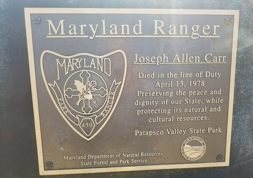 State Park Ranger Joseph A. Carr | Maryland Department of Natural Resources - State Park Service, Maryland