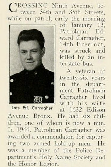 Patrolman Edward H. Carragher | New York City Police Department, New York