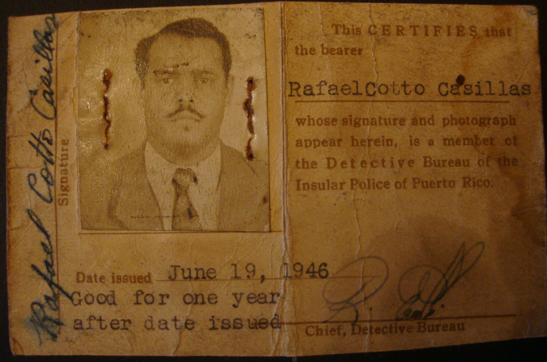 Detective Rafael Cotto-Casillas | Puerto Rico Police Department, Puerto Rico