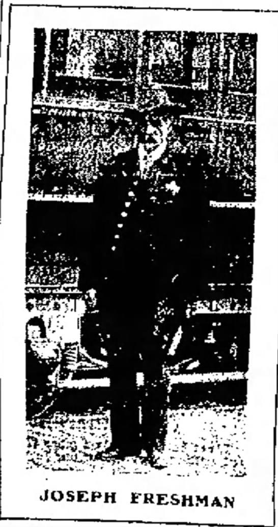 Policeman Joseph A. Freshman | Butte Police Department, Montana