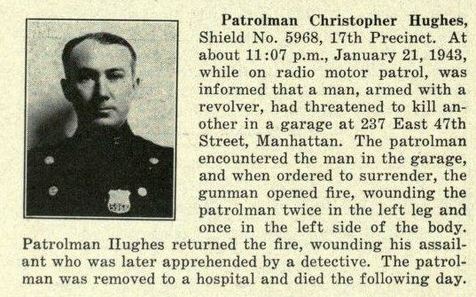 Patrolman Christopher J. Hughes | New York City Police Department, New York