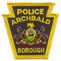 Archbald Borough Police Department, Pennsylvania