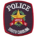Greer Police Department, South Carolina