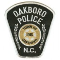 Oakboro Police Department, North Carolina