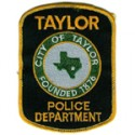 Taylor Police Department, Texas