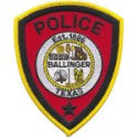 Ballinger Police Department, Texas