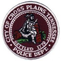 Cross Plains Police Department, Tennessee