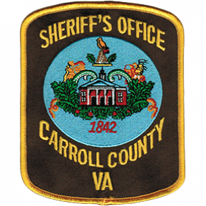 Sheriff Lewis F  Webb, Carroll County Sheriff's Office, Virginia
