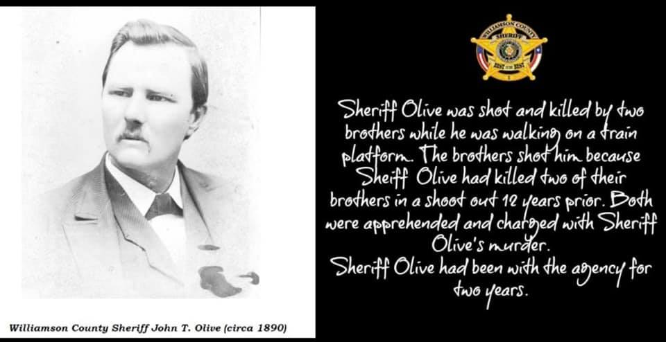 Sheriff John Thomas Olive | Williamson County Sheriff's Office, Texas