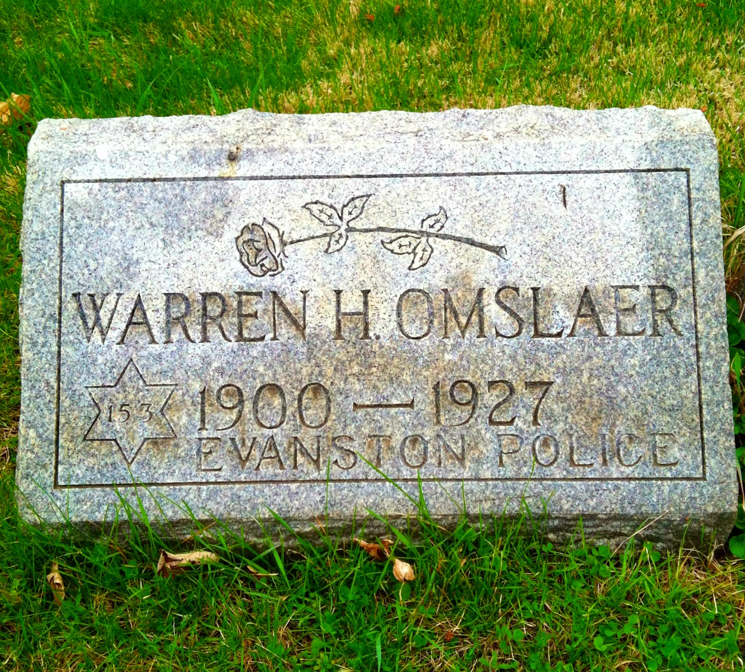 Police Officer Warren Henry Omslaer | Evanston Police Department, Illinois