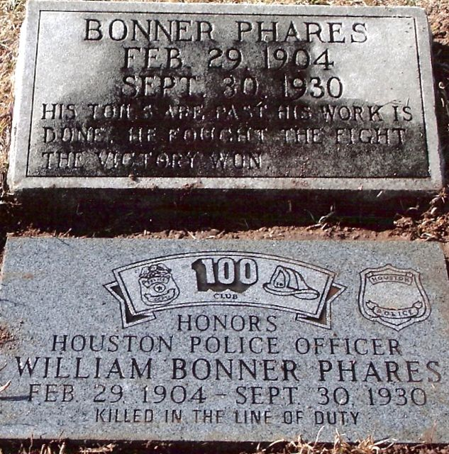 Officer William Bonner Phares | Houston Police Department, Texas