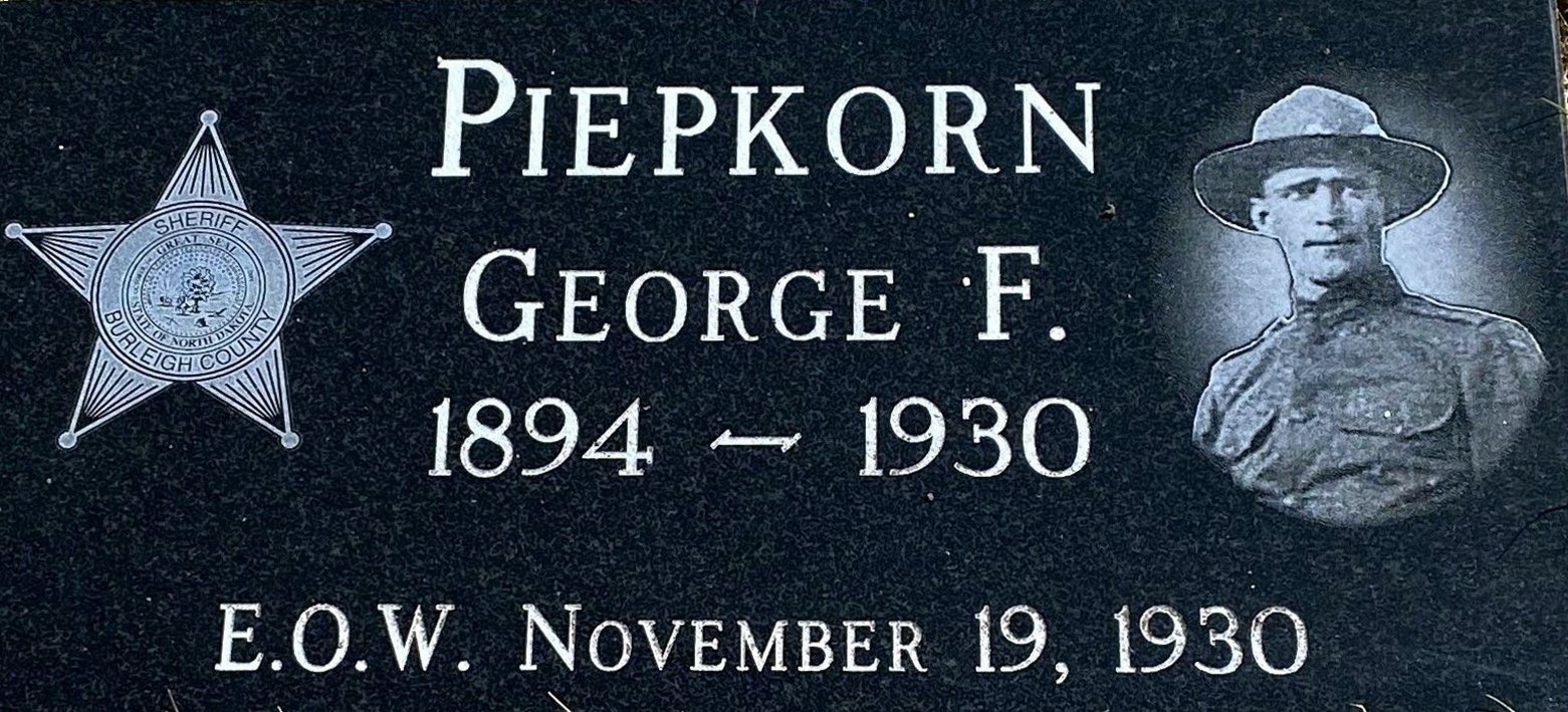 Deputy Sheriff George Frank Piepkorn | Burleigh County Sheriff's Department, North Dakota