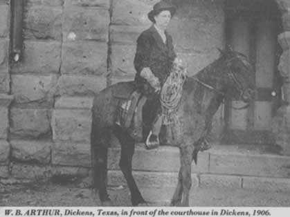 Sheriff William Bowen Arthur | Dickens County Sheriff's Department, Texas