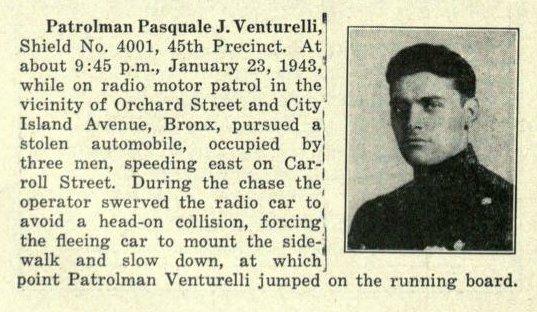 Patrolman Pasquale Venturelli | New York City Police Department, New York