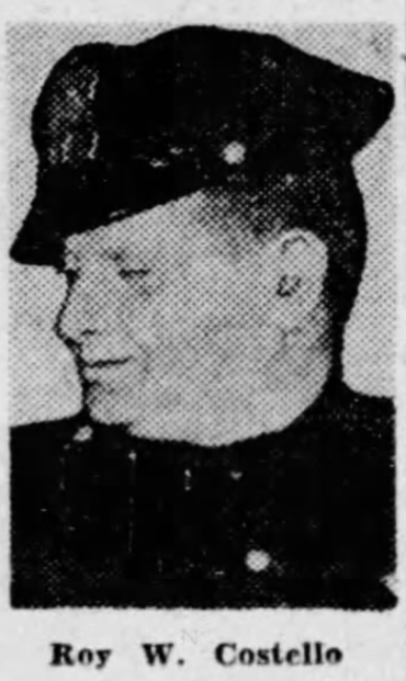 Patrolman Roy W. Costello | Chicago Police Department, Illinois