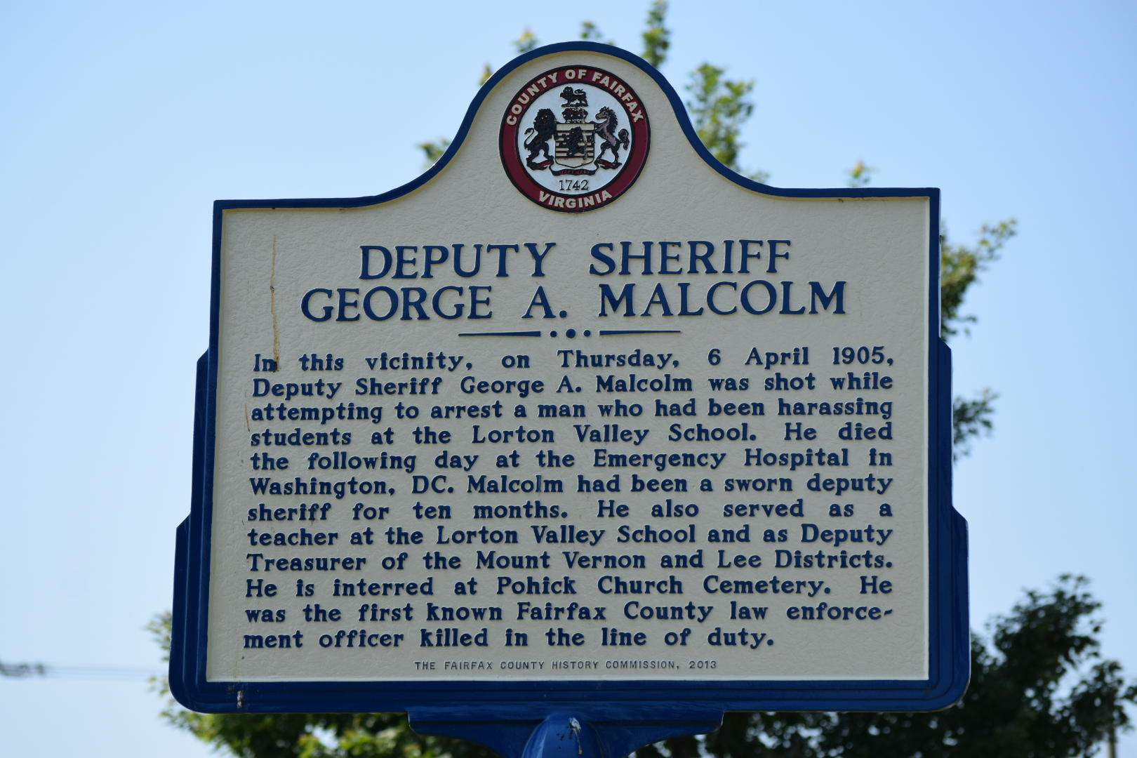 Deputy Sheriff George A. Malcolm | Fairfax County Sheriff's Office, Virginia