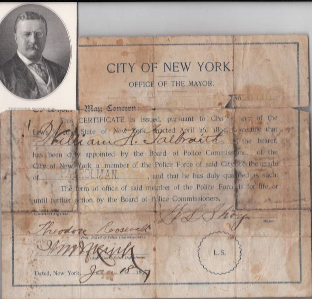 Patrolman William H. Galbraith | New York City Police Department, New York