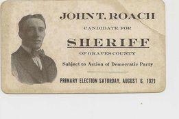 Sheriff John T. Roach | Graves County Sheriff's Department, Kentucky