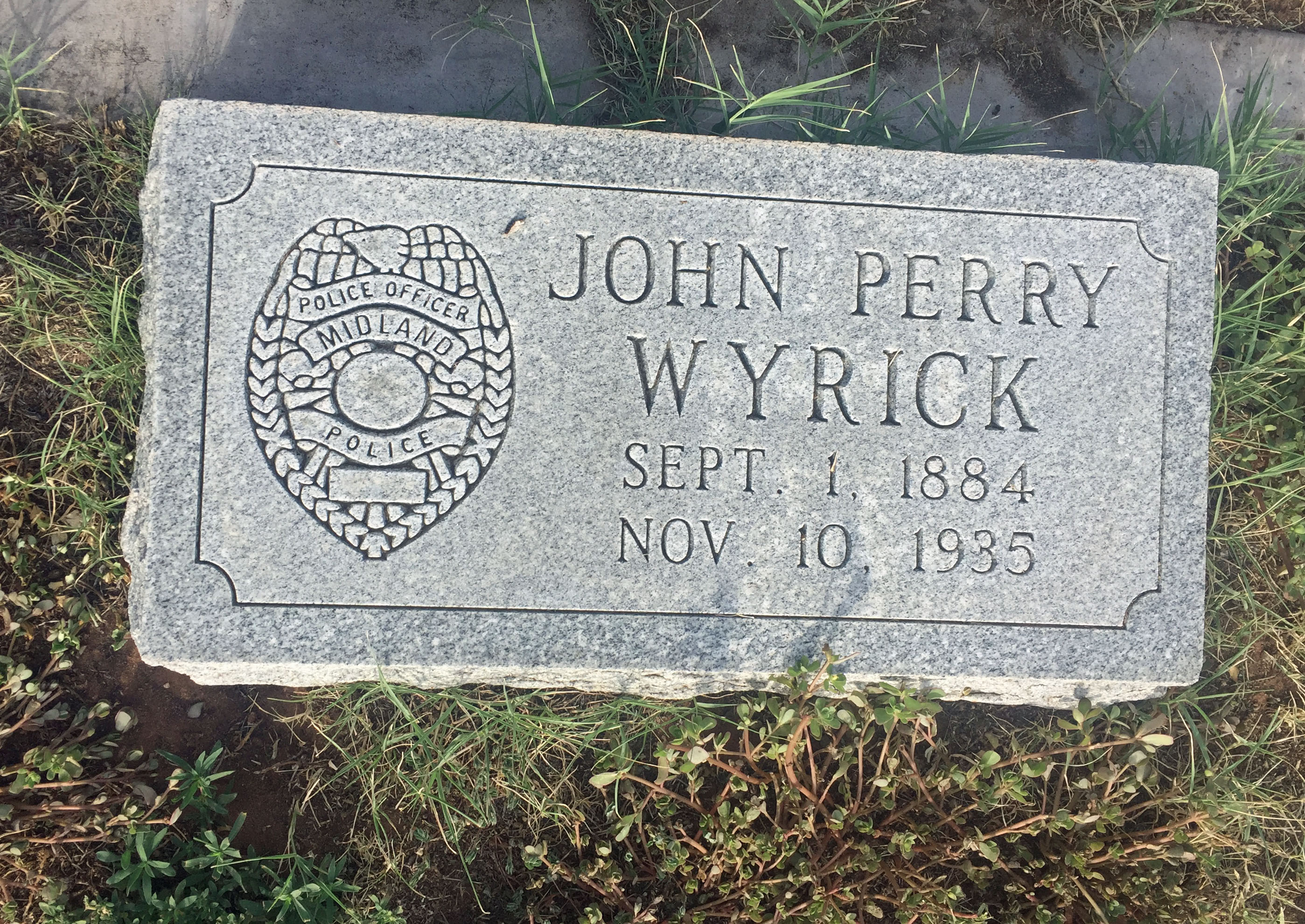 Police Officer John Perry Wyrick | Midland Police Department, Texas