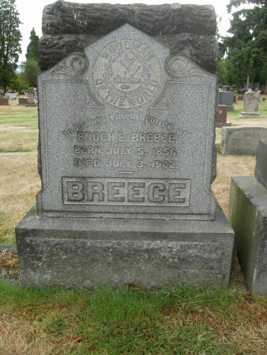Police Officer Enoch E. Breece   Seattle Police Department, Washington