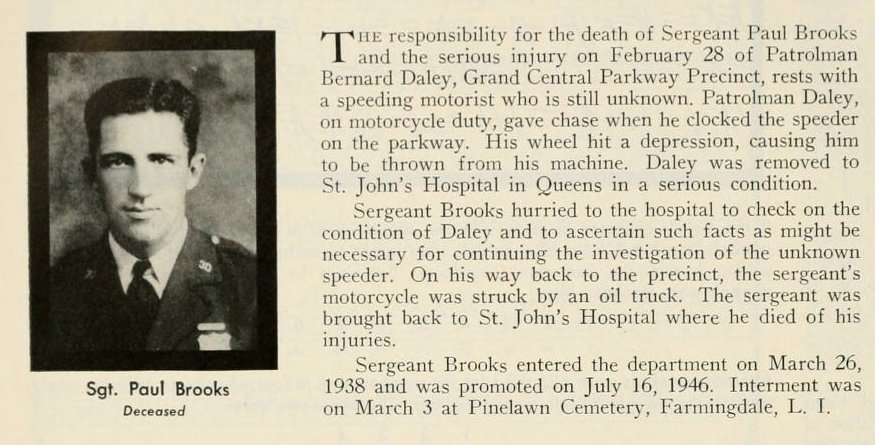 Sergeant Paul E. Brooks | New York City Police Department, New York