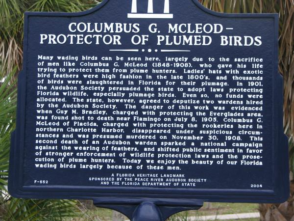 Game Warden Columbus G. McLeod | National Audubon Society, Florida
