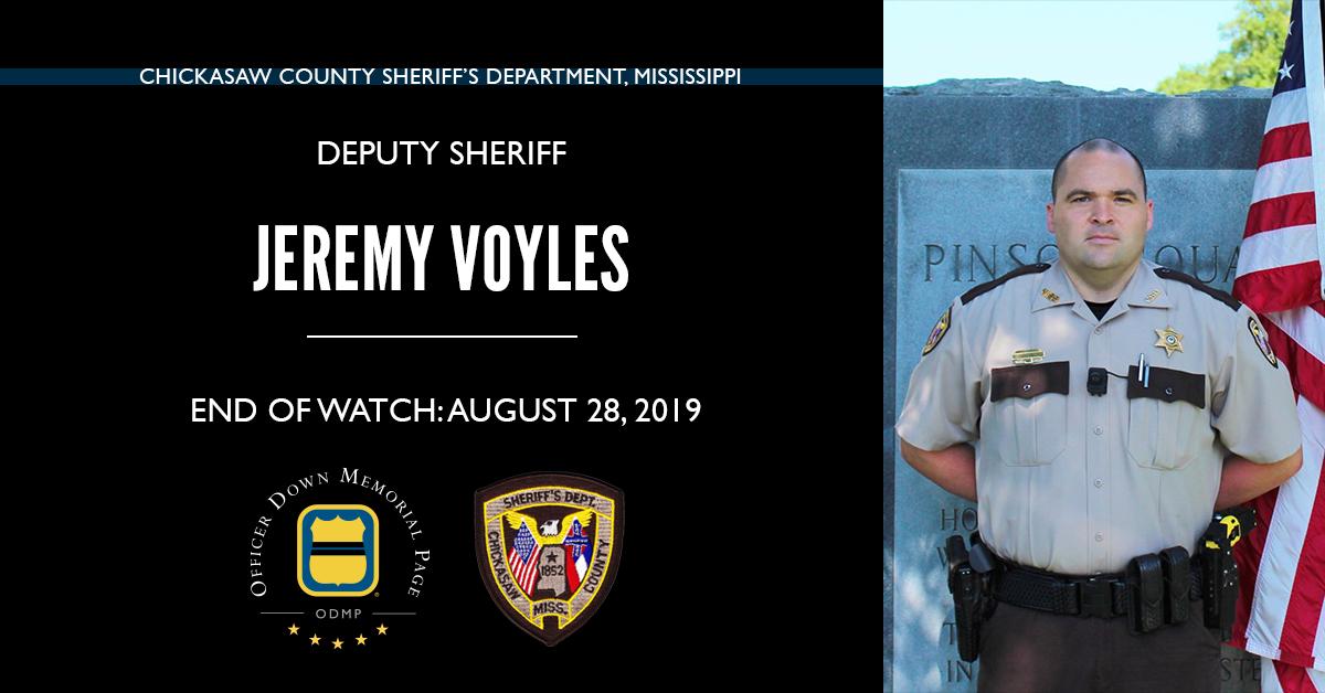 Deputy Sheriff Jeremy Allen Voyles | Chickasaw County Sheriff's Department, Mississippi