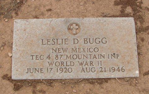 Patrolman Leslie Delbert Bugg   New Mexico State Police, New Mexico