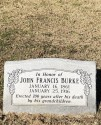 Special Officer John Francis Burke | Houston and Texas Central Railway Police Department, Railroad Police