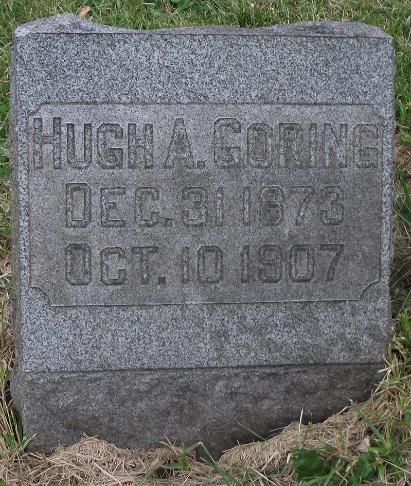 Special Officer Hugh A. Goring | Lake Shore and Michigan Southern Railroad Police Department, Railroad Police