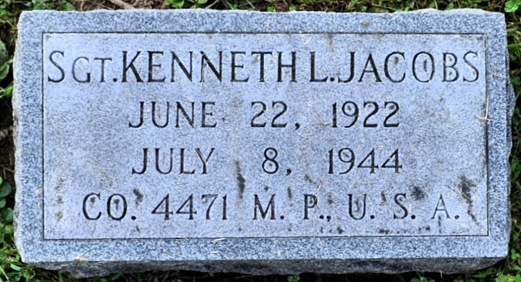 Sergeant Kenneth Lewis Jacobs | United States Army Military Police Corps, U.S. Government