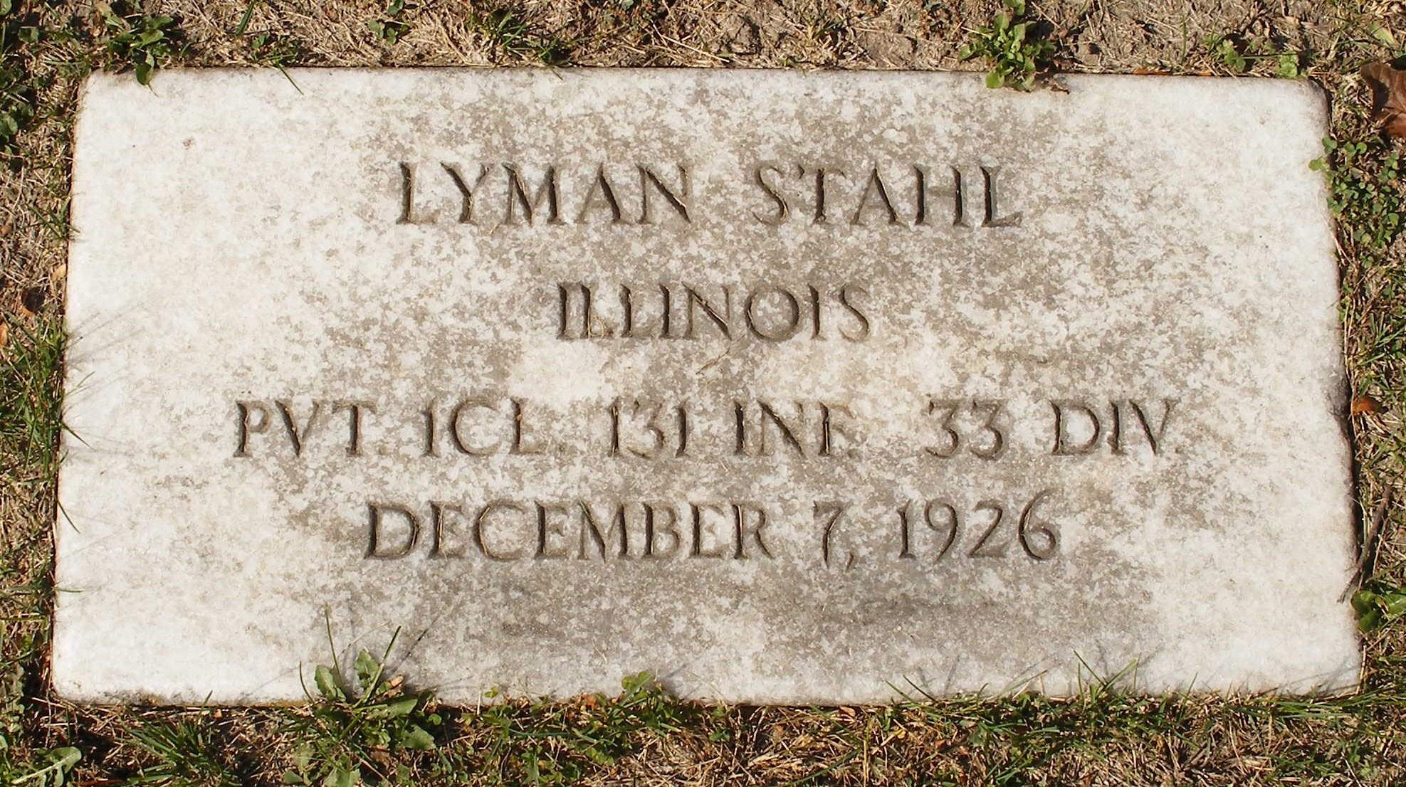 Policeman Lyman James Stahl   Melrose Park Police Department, Illinois