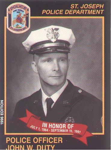 Officer John W. Duty | St. Joseph Police Department, Missouri