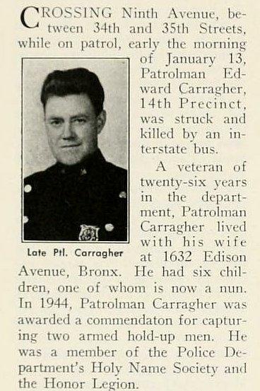 Patrolman Edward H. Carragher | New York City Police Department, New York