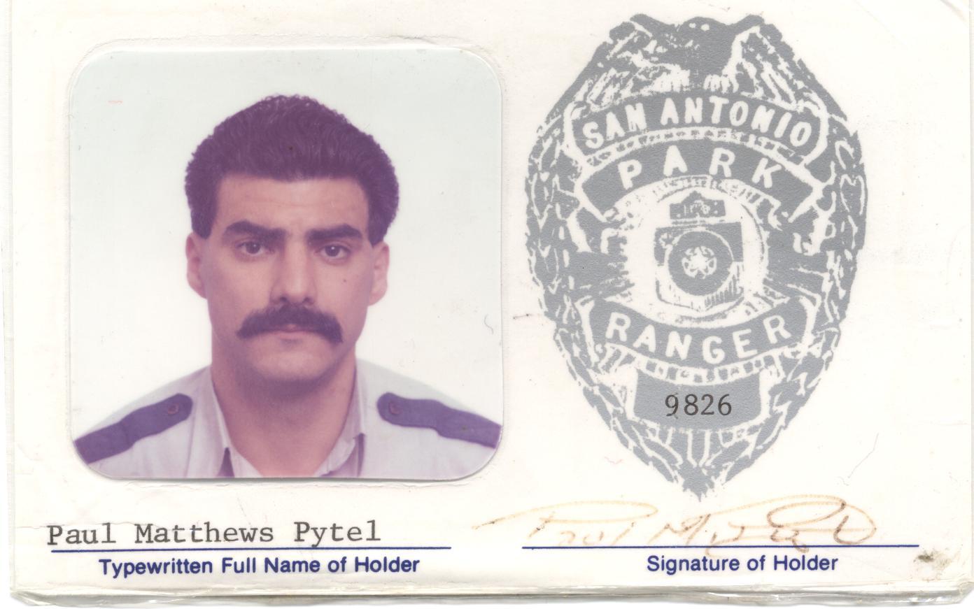 Park Ranger Paul Matthew Pytel   San Antonio Park Police Department, Texas