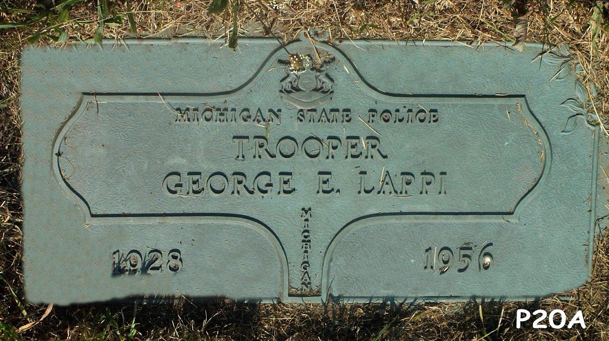 Trooper George Eino Lappi | Michigan State Police, Michigan