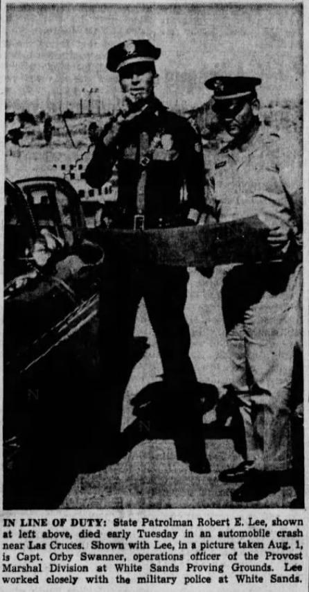 Patrolman Robert E. Lee   New Mexico State Police, New Mexico