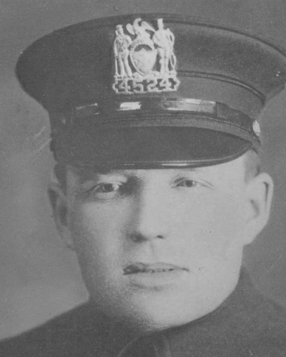 Patrolman Richard J. McCormack   New York City Police Department, New York